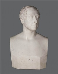 bust of a gentleman (portrait of william murphy, jr., [?]) by hiram powers